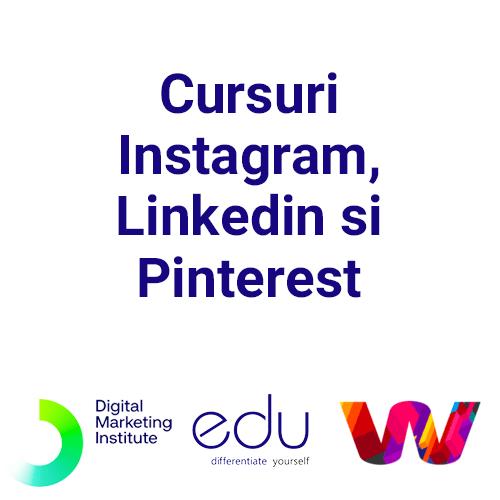 Cursuri Instagram, Linkedin si Pinterest